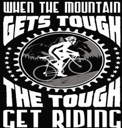 Mountain gets tough vector