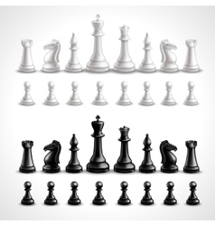Realistic chess figures vector