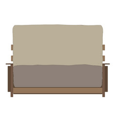 sofa furniture soft couch icon design home vector image vector image