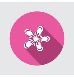 Spring flower icon anemone floral symbol round vector