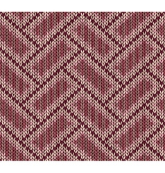 Style Seamless Brown Red Pink Color Knitted Patter vector image vector image