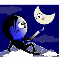 The moon vector