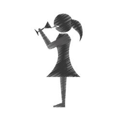 Woman drink wine icon design vector