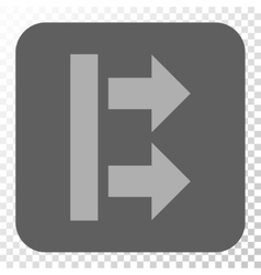 Bring right rounded square button vector