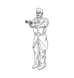 Man cartoon with gun design vector