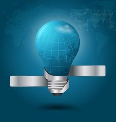 Creative light bulb with globe vector