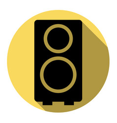 Speaker sign   flat black icon vector