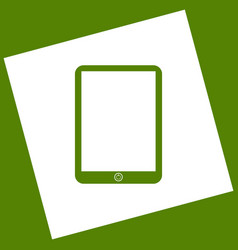 computer tablet sign  white icon obtained vector image