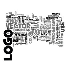 What to expect from your logo designer text word vector