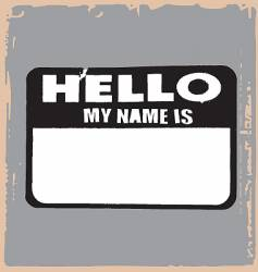 Hello name tag vector