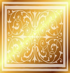 Abstract gold light background of elegant vintage vector