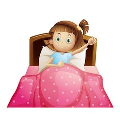 Girl in bed vector