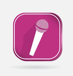 Microphone color square icon vector