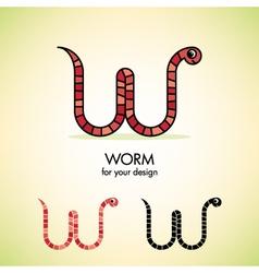 Worm icon vector