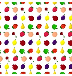 Set of fruits berries vector