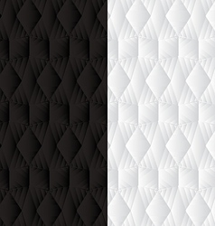 Duo black white geometric background 2 vector