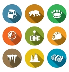 Gas transit icons set vector