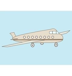 Airliner passengers vector