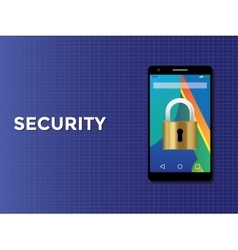 Phone smartphone security concept with padlock vector