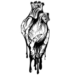 Arm with heart vector