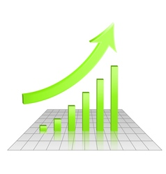 Business 3d chart of growth vector image