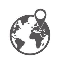 Earth planet icon Delivery and Shipping design vector image