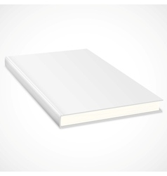 Empty book with white cover vector image