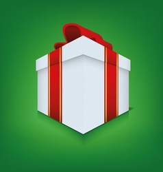 Box icon with ribbon vector image