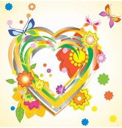 Bright heart vector image