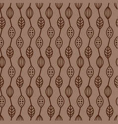 Cacao beans seamless pattern vector
