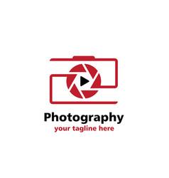 camera videografi business logo vector image