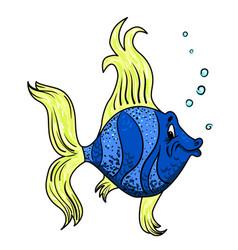 cartoon image of funny fish vector image vector image
