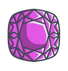 Cushion diamond in a flat style vector