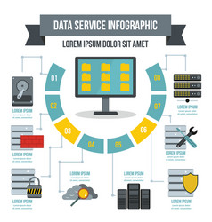 data service infographic concept flat style vector image