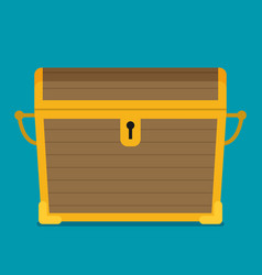 flat of chest icon vector image vector image