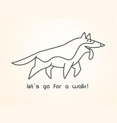 funny cute cartoon german shepherd dog vector image vector image