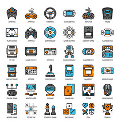 Game technology filled outline icon vector