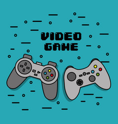 Gamepads icons console for video game vector