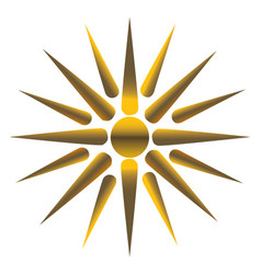 golden sun fully vector image