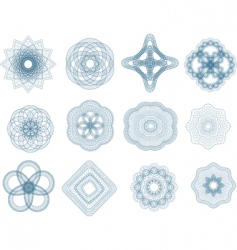 guilloche elements vector image