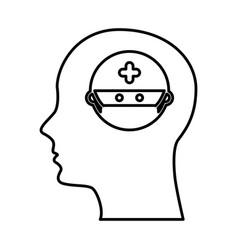 Human profile with surgeon vector