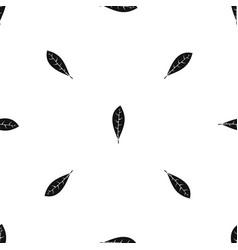 leaf pattern seamless black vector image