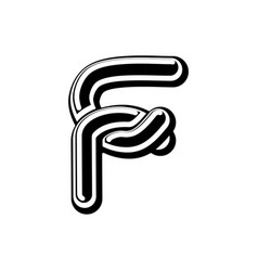 Letter f celtic font norse medieval ornament abc vector