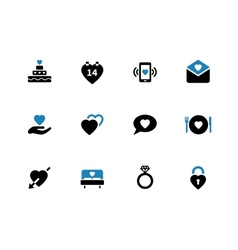 Love duotone icons on white background vector image