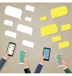 Mobile instant messenger chat vector