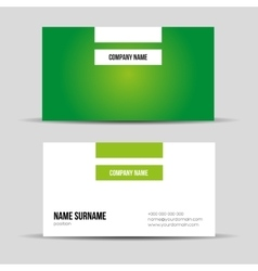 Modern green business card template vector image