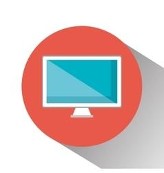 monitor computer display icon vector image vector image