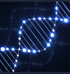 neon dna spiral abstract background vector image vector image