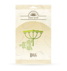 pack of dill seeds icon vector image vector image