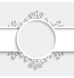 Paper label vector image